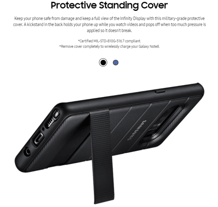 Protective Standing Cover - Galaxy Note 8 Accessories