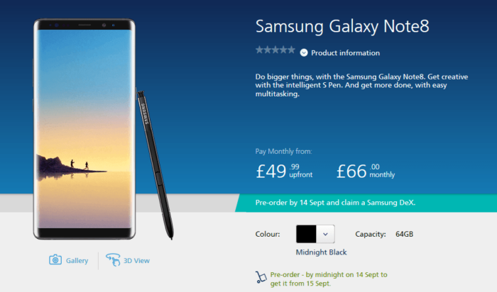 Where to Buy Galaxy Note 8 in UK 1
