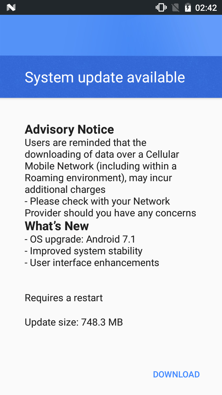 Download Nokia 3 Android 7 1 1 Nougat OTA System Update