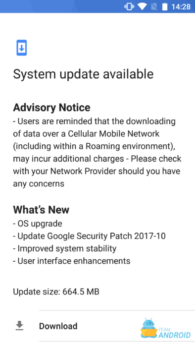 Download Nokia 6 October 2017 System Update