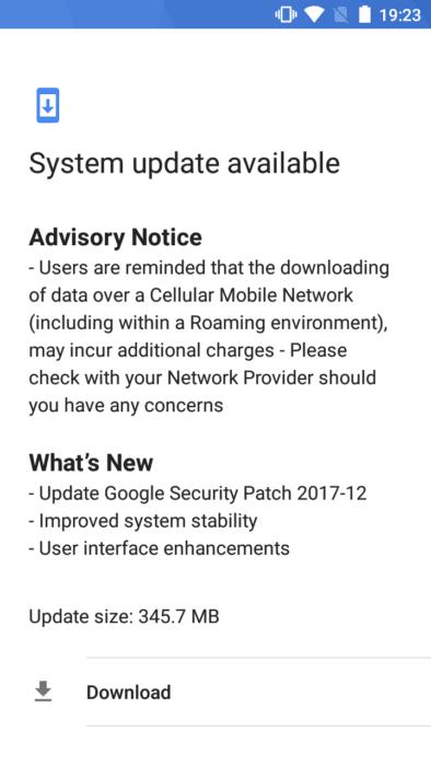Download Nokia 3 December 2017 OTA System Update 1