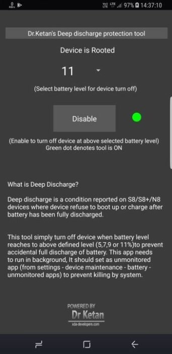 Fix Battery Discharge Issue, Galaxy Note 8