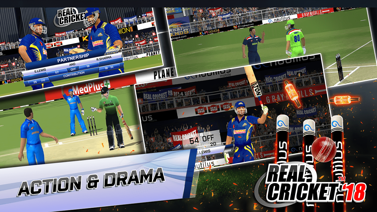Download Real Cricket 18 on PC – Play Android Games on Windows / Mac 13