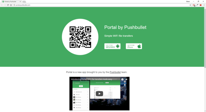 Portal - Transfer Files from PC to Android