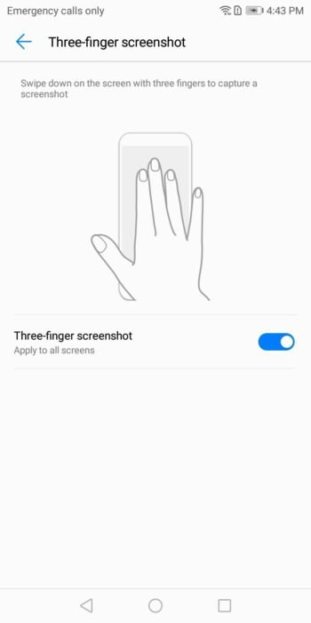 How to Enable Three-Finger Screenshot on Huawei P20 13