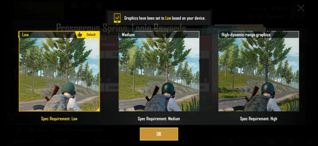 PUBG Mobile Low Graphics Quality