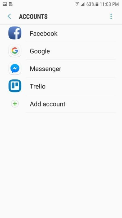 sign out of google account on android phone