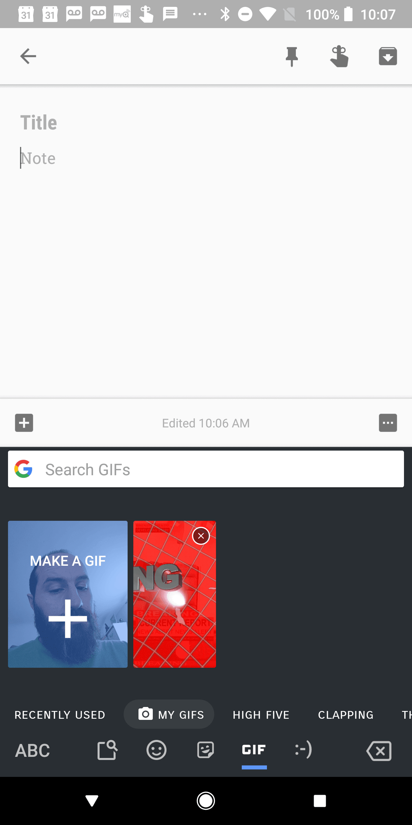 Make Custom GIF Images with Gboard 7.2 Beta APK 12