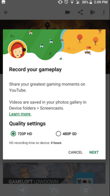 Record Gameplay with Google Play Games