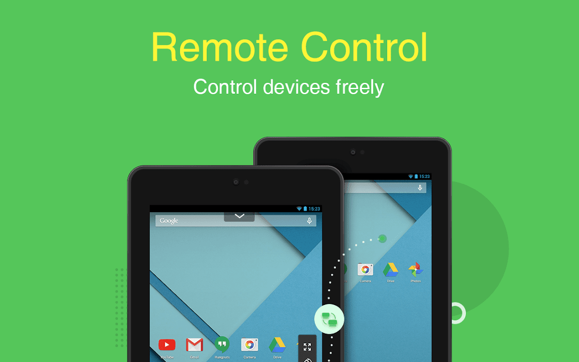 AirMirror: Remotely Control Android Phones from Another Device 5