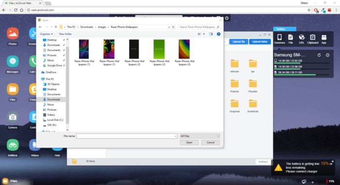 How to Transfer Files Wirelessly Between Android and Windows / Mac 15