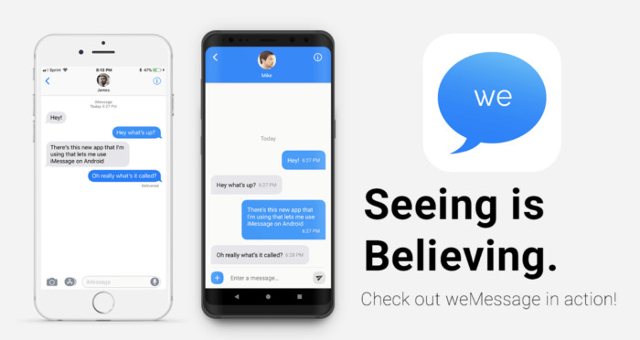 Install iMessage on Android with weMessage