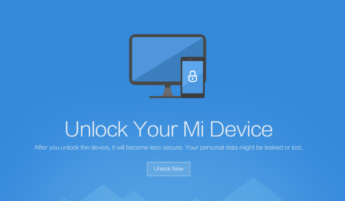 unlock your mi device mi 8