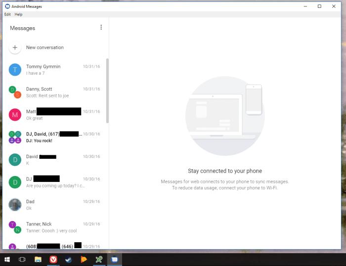 Android Messages Desktop Client