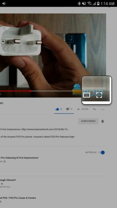 Watch YouTube Videos in Picture-in-Picture Mode without YouTube Red Subscription 13