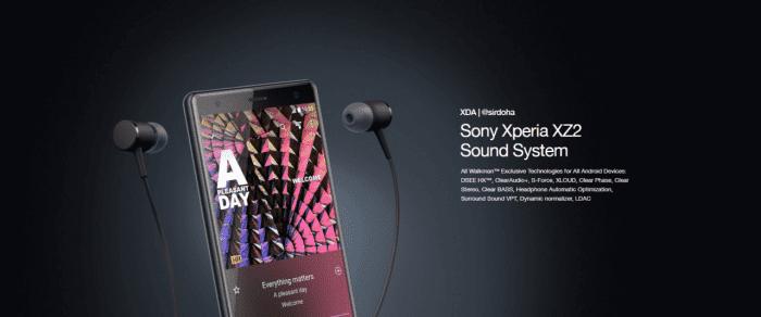Xperia XZ2 Sound System