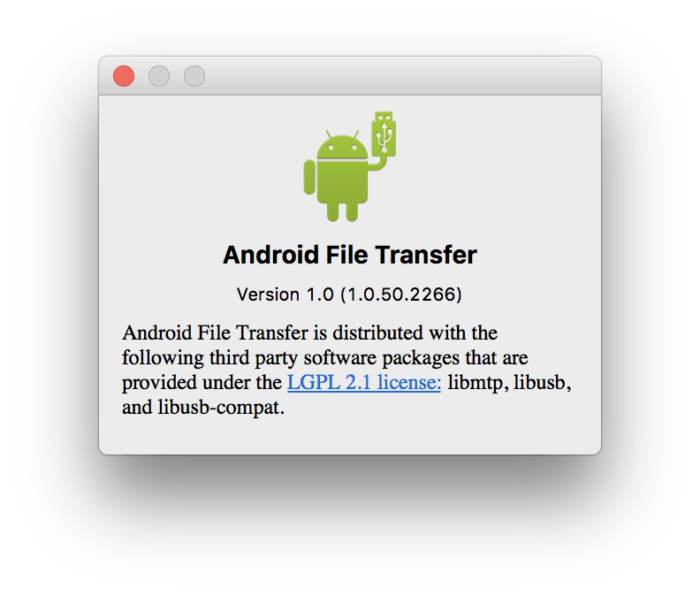 Download Android File Transfer 1.0.11 for macOS: Transfer Files from Android Devices 2