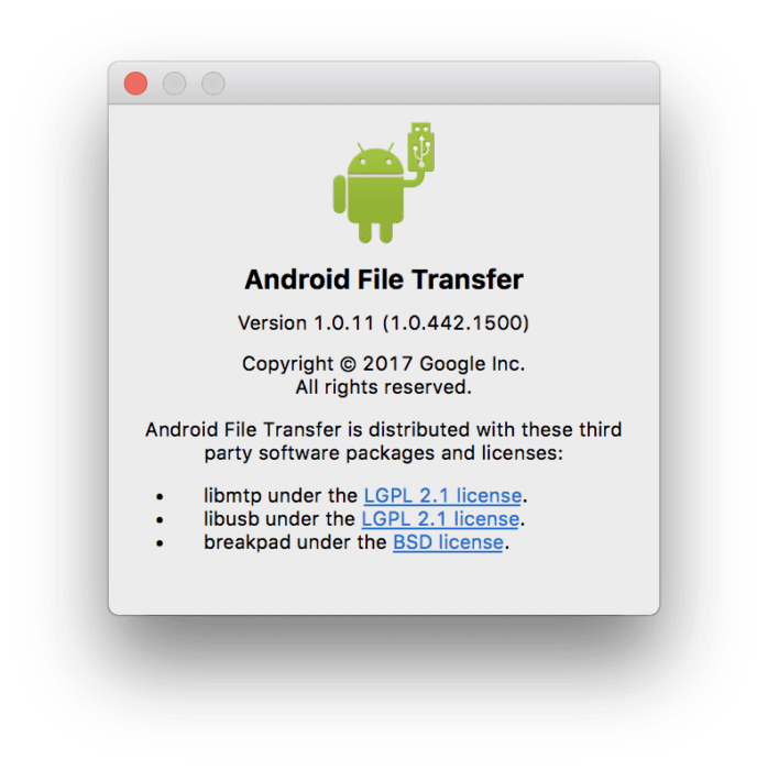 Download Android File Transfer 1.0.11 for macOS: Transfer Files from Android Devices 3