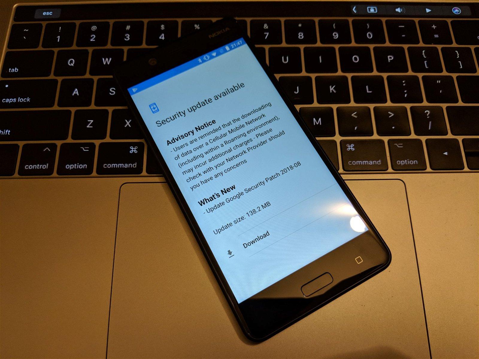 Download Nokia 5 August 2018 OTA System Update 1