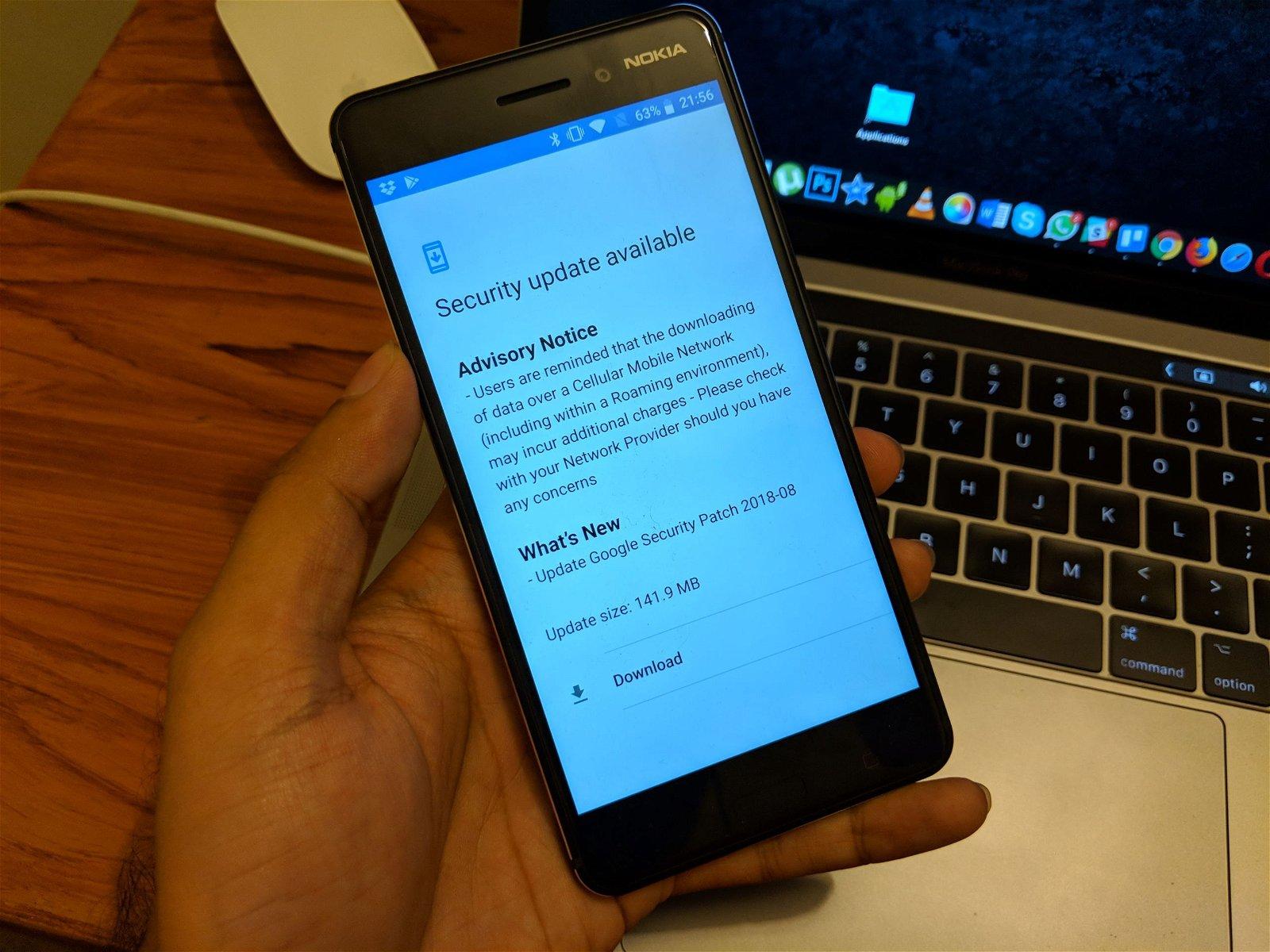 Download Nokia 6 August 2018 OTA System Update 1