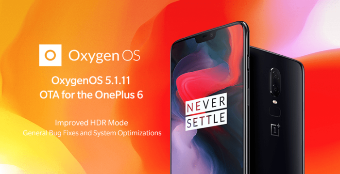 Download OxygenOS 5.1.11, OnePlus 6