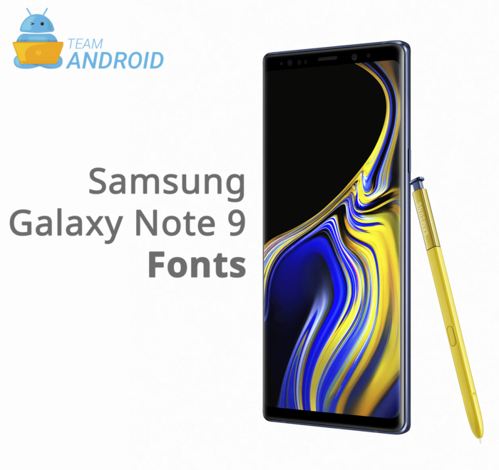 Download Samsung Galaxy Note 9 Fonts