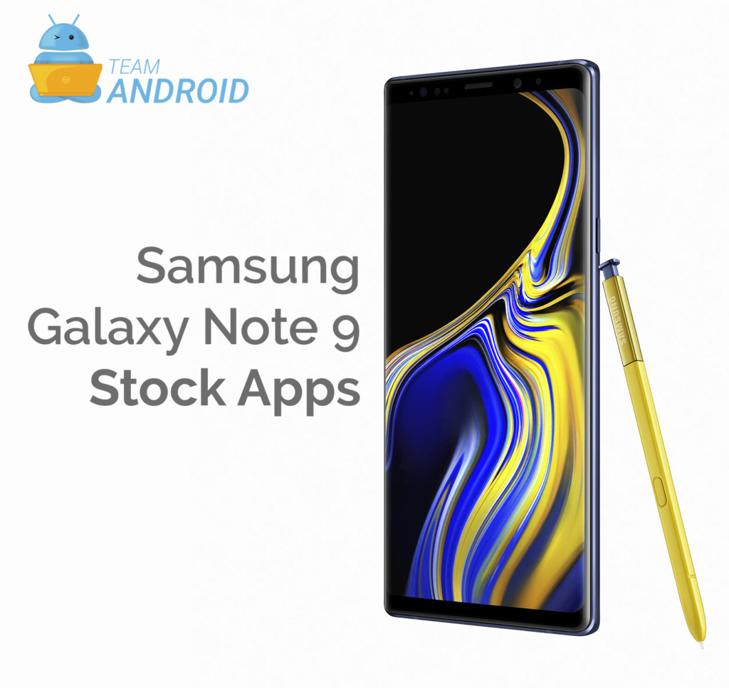 Download Galaxy Note 9 Apps - Official Stock Apps [Download]