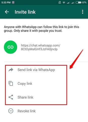 How to Create WhatsApp Group Invite Link - Add Users through URL 11