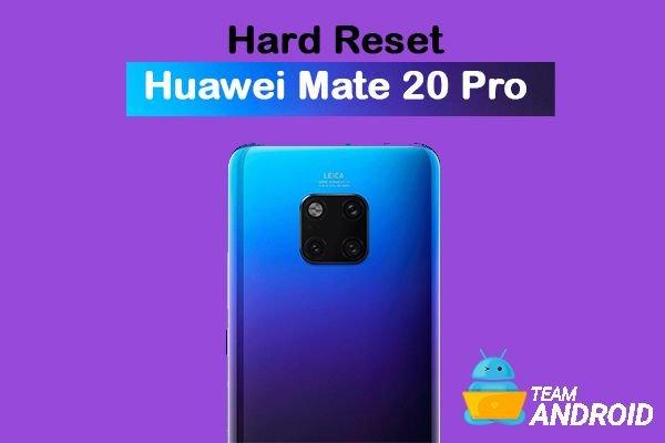 Hard Reset Huawei Mate 20 - Factory Reset