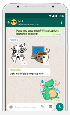 Send Stickers in WhatsApp