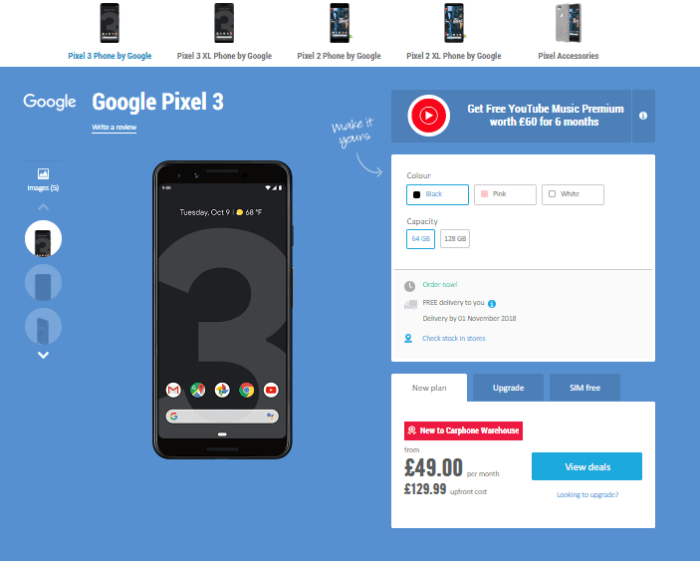 Where to Buy Google Pixel 3 and Pixel 3 XL in UK 13