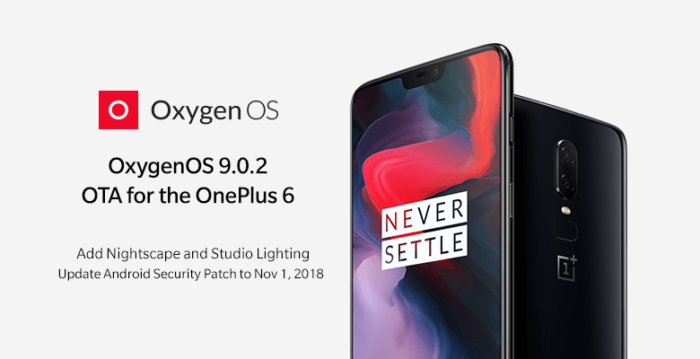 Download OxygenOS 9.0.2, OnePlus 6