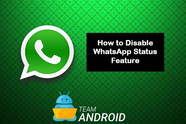 Disable WhatsApp Status