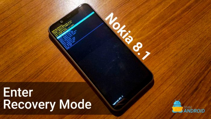 Enter Recovery Mode on Nokia 8.1