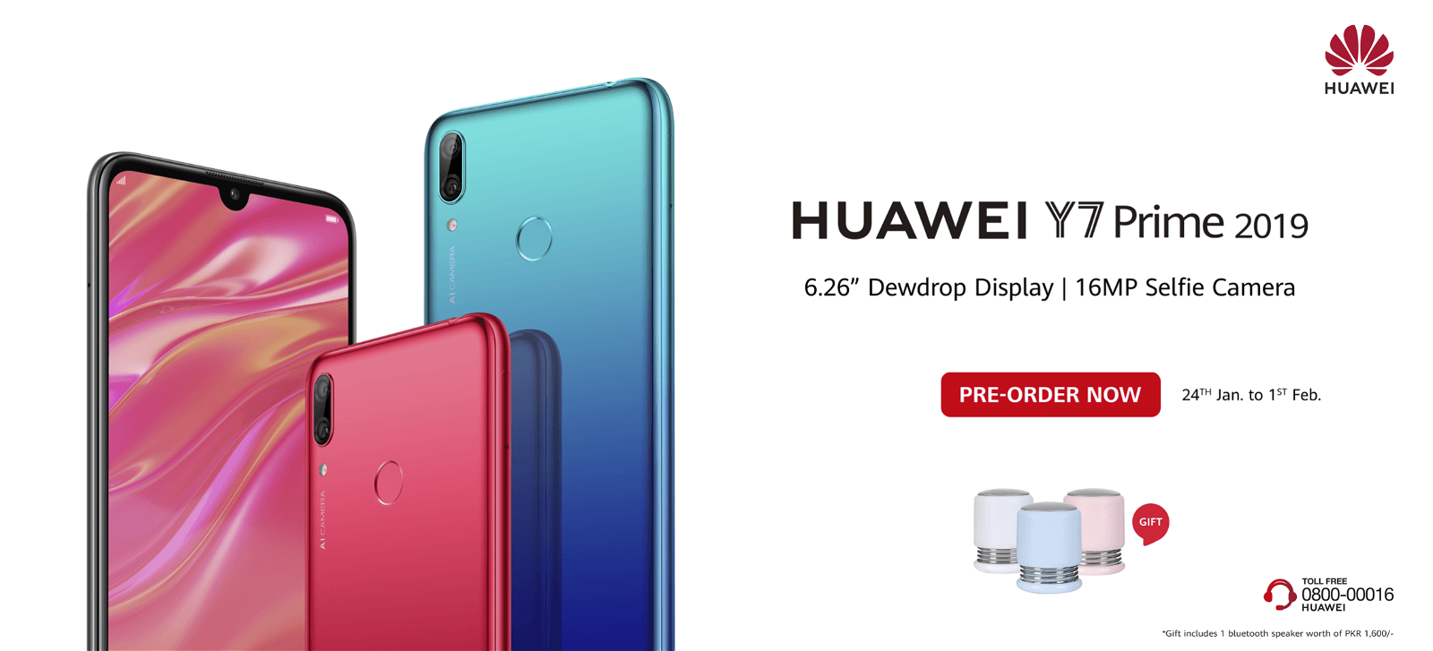 Huawei Y7 Prime 2019 Available for Pre-Order in Pakistan 2