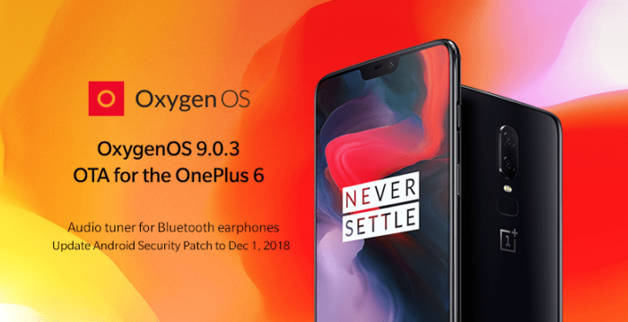 Download OxygenOS 9.0.3, OnePlus 6