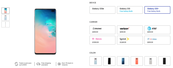 Where to Buy Samsung Galaxy S10, Galaxy S10+ and Galaxy S10e in US 13
