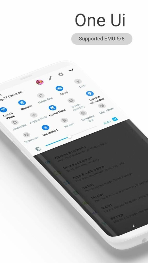 Download Galaxy S10 One UI Theme for Huawei / Honor Phones EMUI