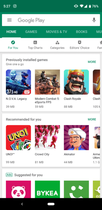 Download Google Play Store APK for Android (All Versions)