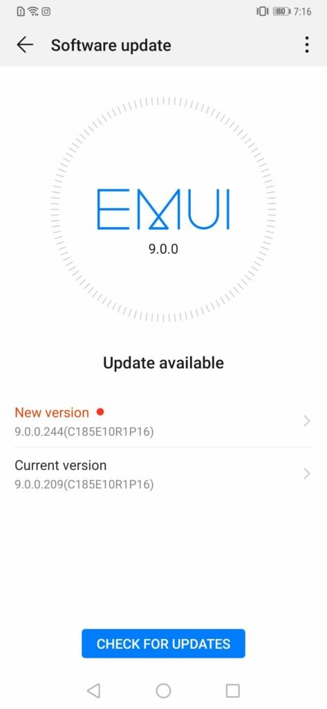 Huawei Mate 20 Pro April 2019 Security Update