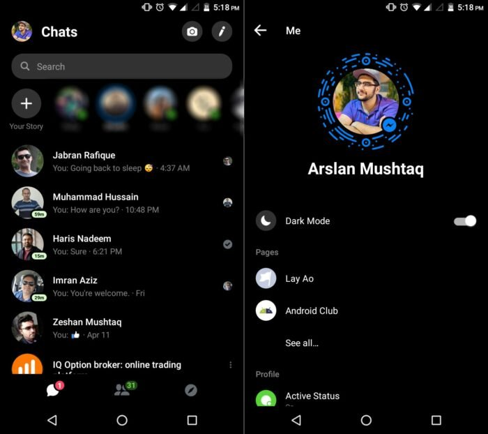 Dark Mode for Facebook Messenger Officially On the Way 10