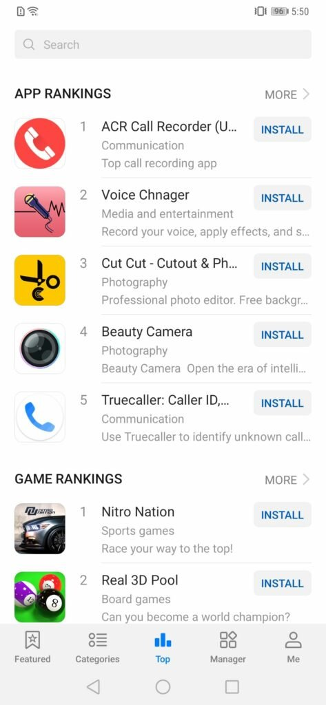 Huawei App Gallery - Top Apps