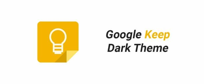 Google Keep, Dark Theme UI