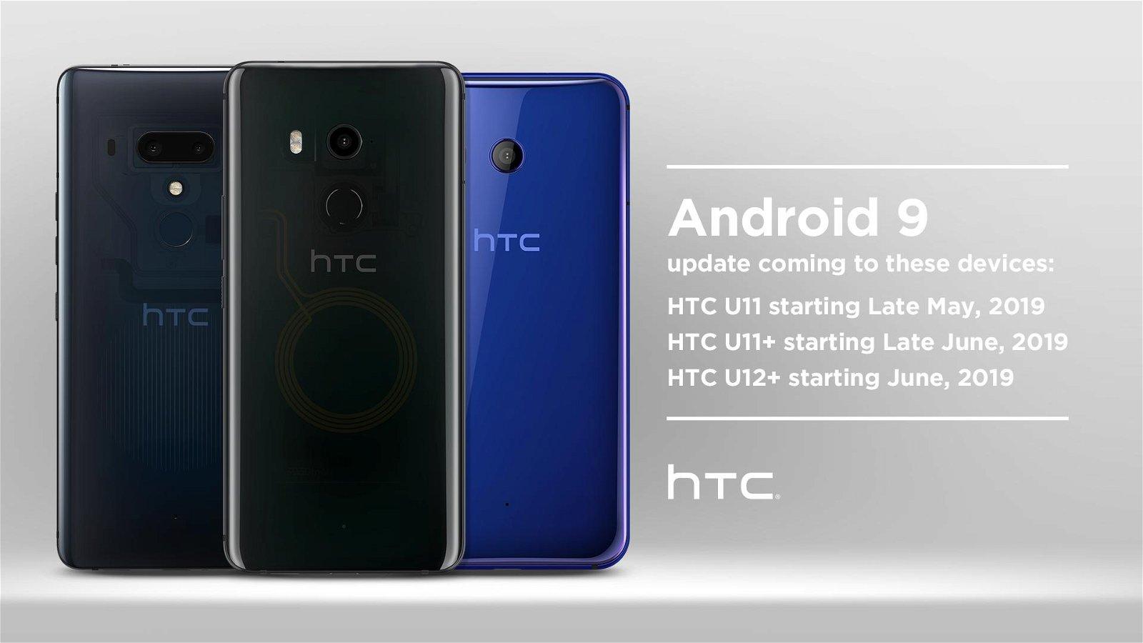 Official Android Pie Update Schedule for HTC U11, U11+, U12+ Announced 1