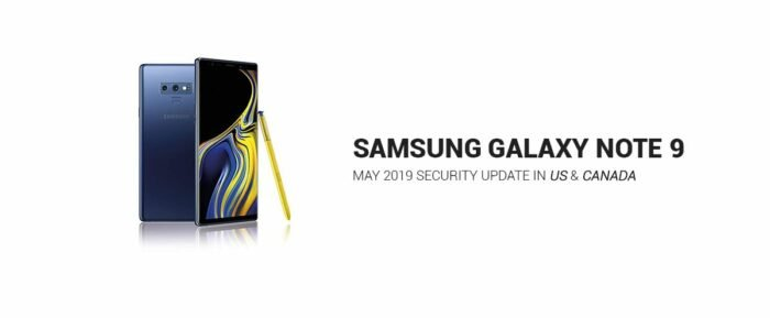 Galaxy Note 9, May 2019 Update