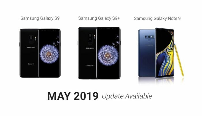 Samsung Galaxy S9, Galaxy S9 Plus, Galaxy Note 9 - May Security Update