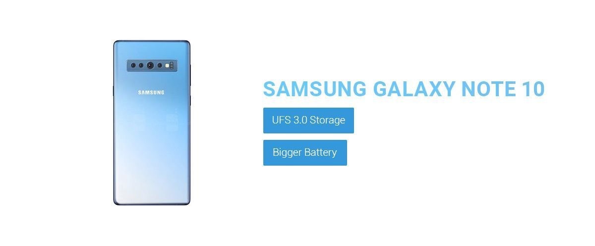 Samsung Galaxy Note 10 Expected with UFS 3.0 Storage 1