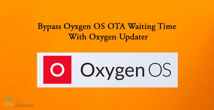 Oxygen Updater, OxygenOS
