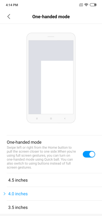 How to Enable One Handed Mode on MIUI 10 13