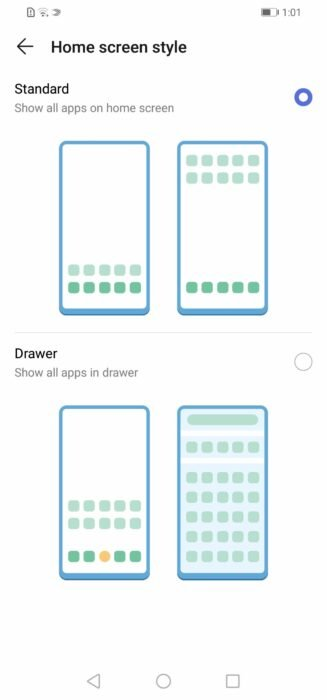 Enable App Drawer - Home screen style